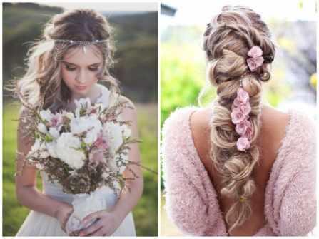 Gợi ý cho cô dâu kiểu tóc cưới Bohemian