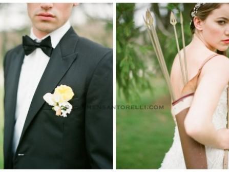 """Ảnh cưới lấy ý tưởng từ phim """"The Hunger Games"""""""