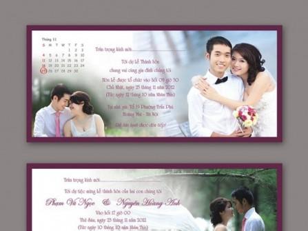 Những mẫu thiệp cưới dành cho năm 2013