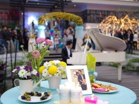 Kinh nghiệm trang trí hoa cho đám cưới ngoài trời