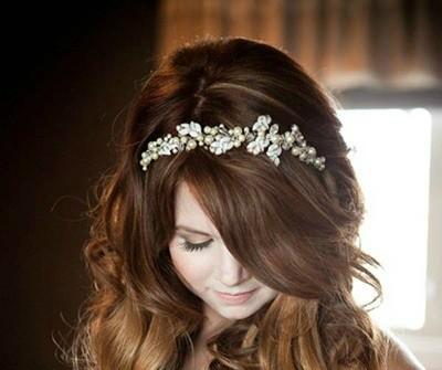 Dịu dàng tóc cưới buông lơi