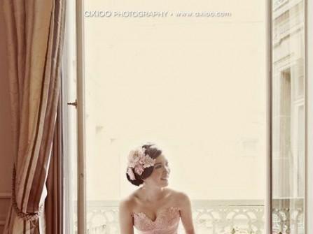 6 mẫu áo cưới hồng phấn dịu dàng