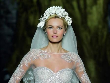 Áo cưới ngắn sang trọng Pronovias 2014
