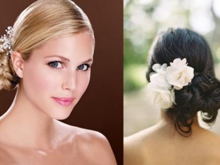 5 kiểu bới tóc cô dâu dành cho tiệc ngoài trời
