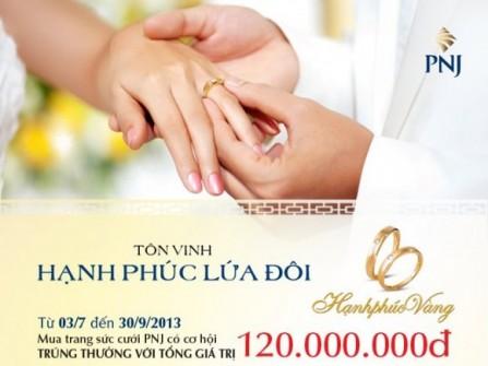 PNJ ra mắt BST trang sức cưới Hạnh Phúc Vàng 2013