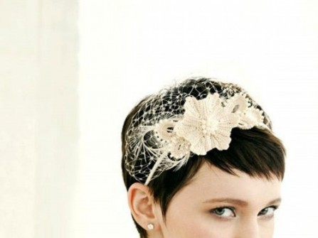 Các mẫu tóc cưới ngắn nhưng đầy dịu dàng