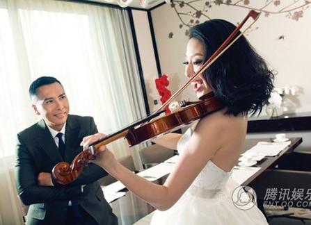 Hình cưới lãng mạn của sao võ thuật Hoa ngữ