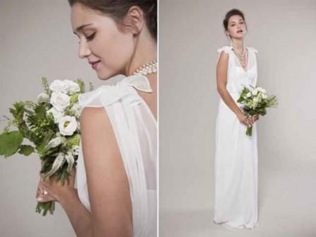 Cô dâu hiện đại với váy cưới đơn giản và thanh lịch