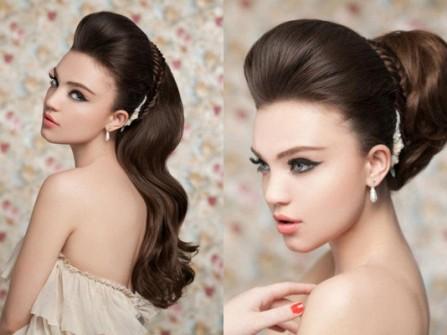 Lộng lẫy với phong cách tóc cưới búi