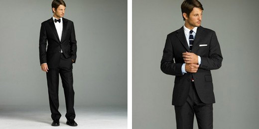 Vest cưới đen kèm với sơ mi trắng