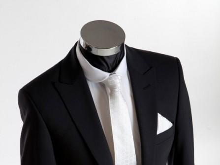 Vest cưới đen với túi ngực