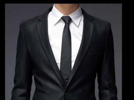 Vest cưới đen nam tính