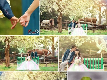 Ảnh cưới ngoại cảnh ở Hà Nội