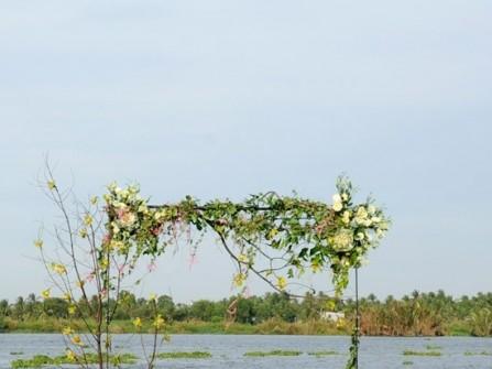 Theme cưới xanh lá dịu dàng, tự nhiên