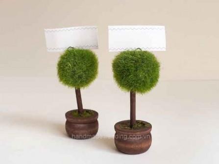 Quà cưới - Kẹp giấy hình chậu cây tặng khách mời đám cưới