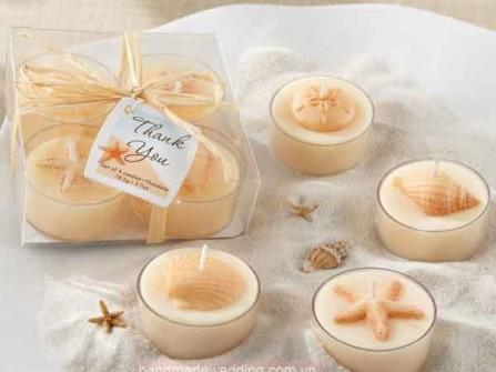 Quà cưới tặng khách - nến tealight hình vỏ sò