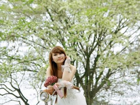 Mùa xuân ra xứ Bắc chụp ảnh cưới ngoại cảnh