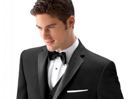 Vest cưới đen bóng bẩy