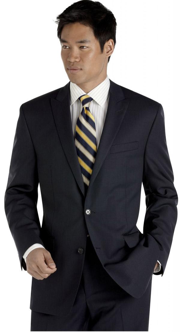 Vest cưới đen với 2 nút độn vai