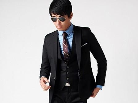 Vest cưới đen phong cách Hàn Quốc