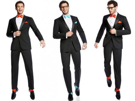 Vest cưới nam màu đen kết hợp nơ cổ rực rỡ