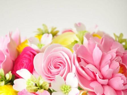 Hoa cưới cầm tay màu hồng số 20