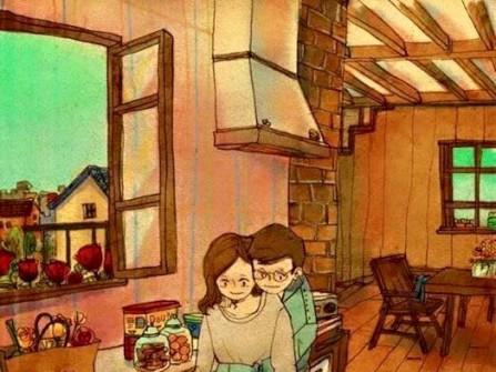 Cuộc sống vợ chồng qua bộ tranh ai cũng ao ước