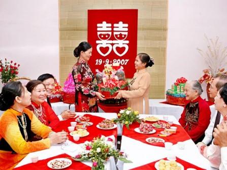 Thủ tục cơ bản của đám cưới thuần Việt
