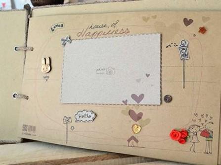 Scrapbook , lưu giữ ký ức sống động đám cưới