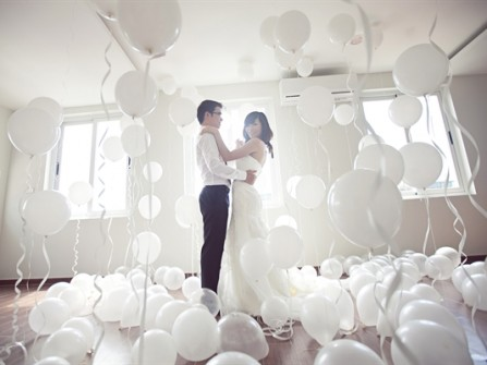 Tự trang trí phòng cưới lãng mạn cho mình