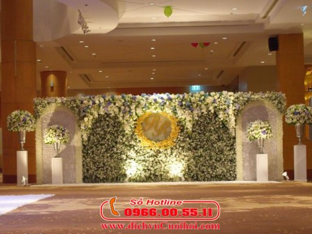 Backdrop chụp ảnh, đón khách tuyệt đẹp dành cho ngày cưới