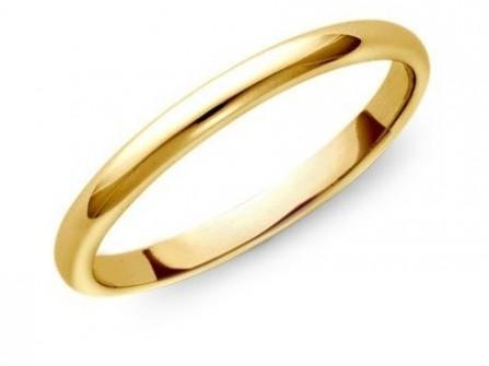 Nhẫn cưới vàng trơn kiểu truyền thống