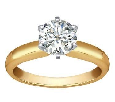 Nhẫn cưới đính đá cổ điển