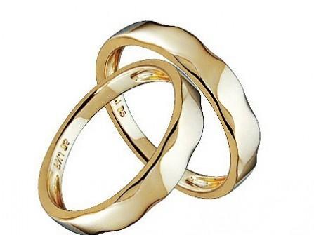 Nhẫn cưới vàng lượn sóng