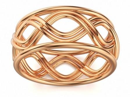 Nhẫn cưới vàng lượn sóng ấn tượng