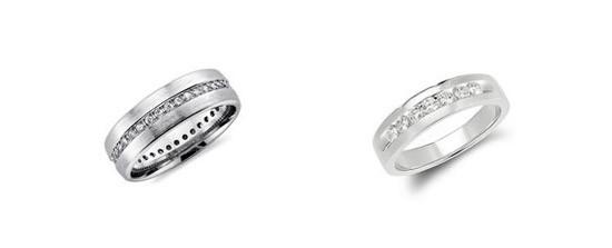 Nhẫn đính hôn đính đá dọc thân nhẫn