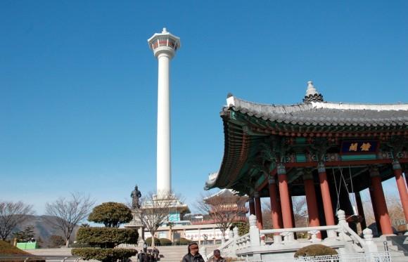 Công viên Yongdusan và tháp Busan