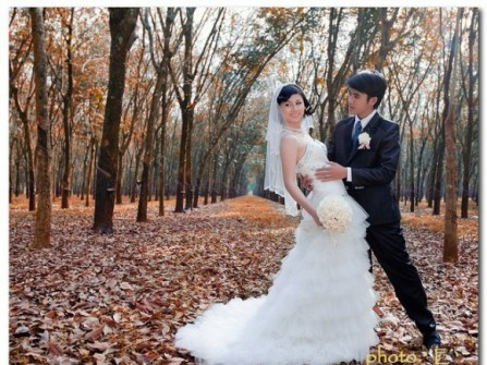 Địa điểm chụp ảnh cưới rừng cao su