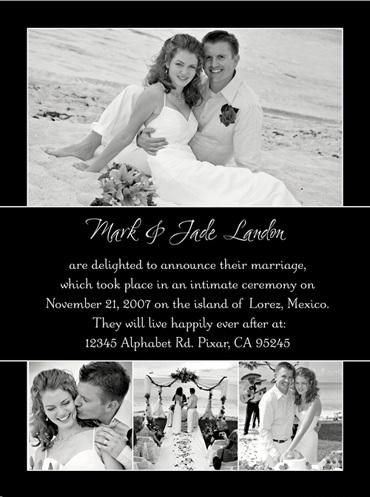 Thiệp cưới đẹp màu đen in hình cặp đôi