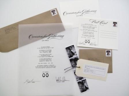 Thiệp cưới đẹp với thiết kế postcard
