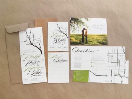 Thiệp cưới đẹp thiết kế bì thư sáng tạo