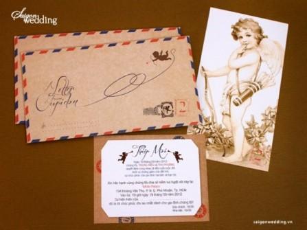 Thiệp cưới đẹp hình phong thư