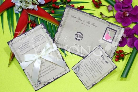 Thiệp cưới đẹp hình phong thư biến tấu lạ mắt