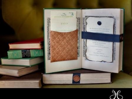 Thiệp cưới đẹp thiết kế kiểu cuốn sách độc đáo