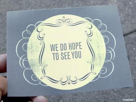 Thiệp cưới đẹp màu xanh dương đơn giản trang trọng