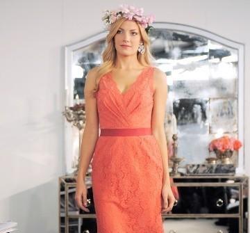 Áo cưới màu cam ngắn thắt lưng đỏ