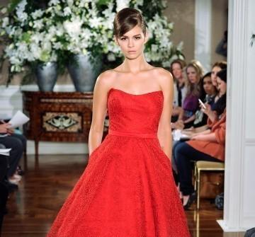 Váy cưới ngắn màu đỏ vintage
