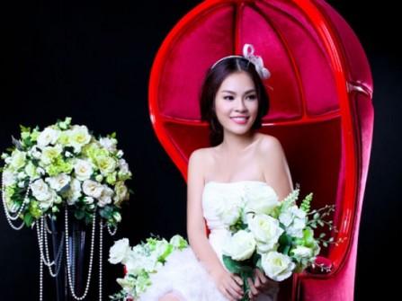 Áo cưới ngắn ren trắng trẻ trung