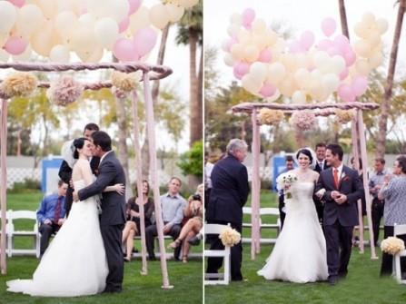 Cổng hoa cưới thơ mộng bằng bóng bay