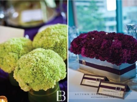 Trang trí tiệc cưới sang trọng với hoa cẩm tú cầu